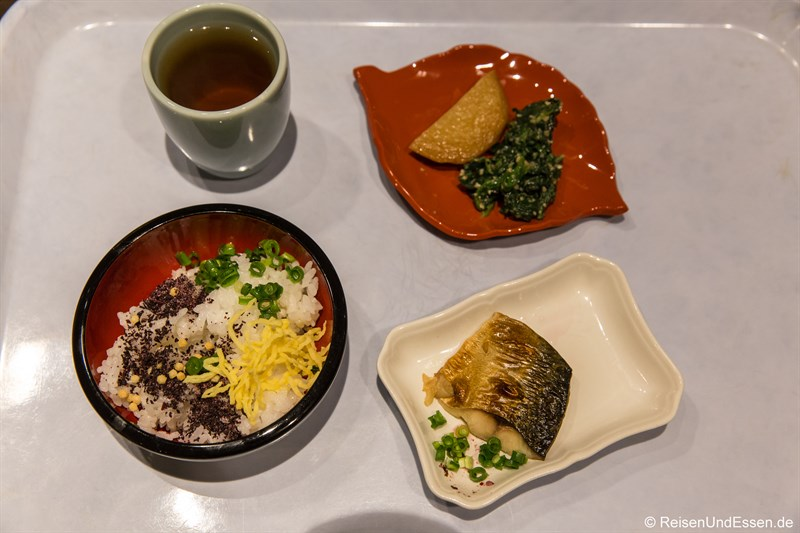 Japanisches Frühstück im Hotel Nikko Nara