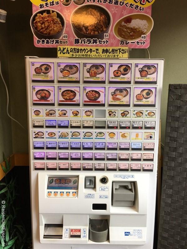 Schnellimbiss mit Automat in Japan