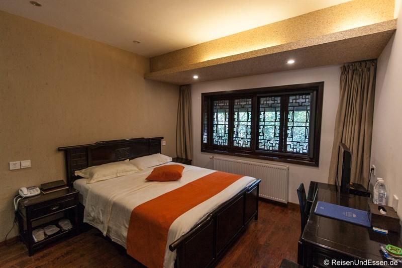 Blick in das Zimmer im Hotel in Chengdu
