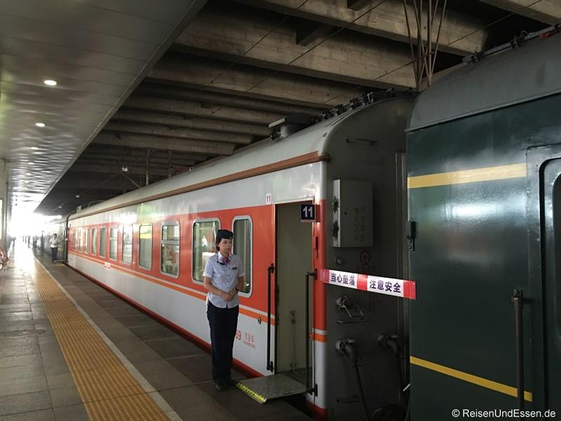 Zug von Beijing nach Chengdu