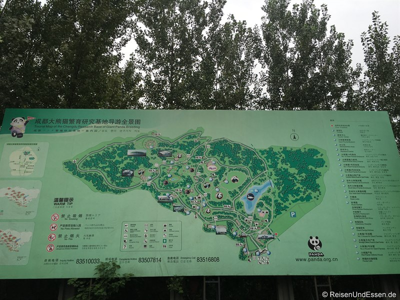 Plan des Chengdu Research Base of Giant Panda Breeding
