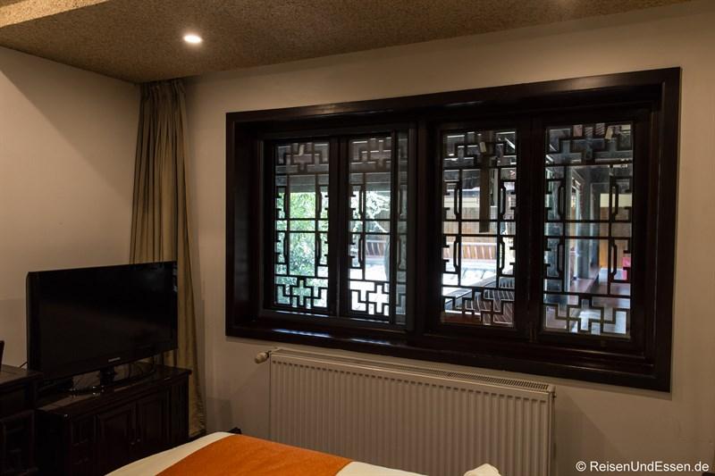 Zimmer im Hotel in Chengdu mit Blick in Rundgang