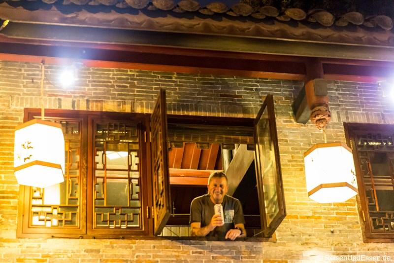 Pause im Hotel in Chengdu im Qing-Stil