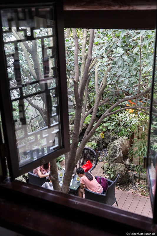 Innenhof im Hotel in Chengdu im Qing-Stil