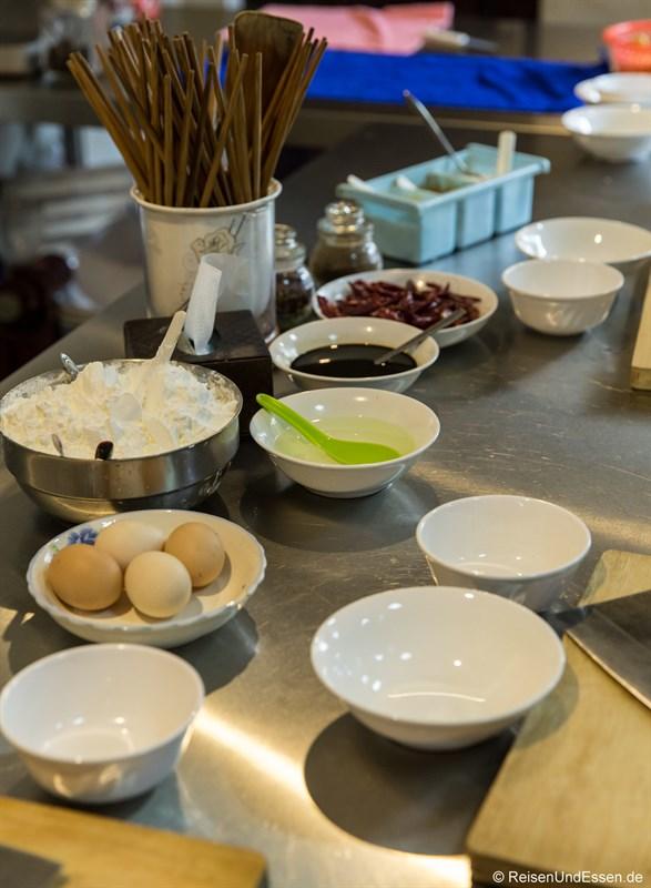 Start für den Kochkurs mit typischen Sichuan Gerichten in Chengdu