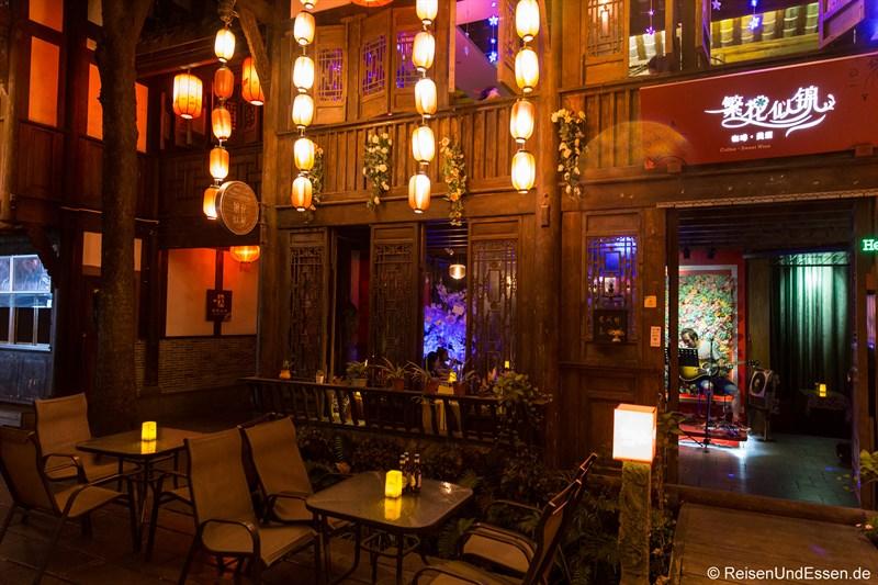 Teehaus mit Live-Musik in Chengdu