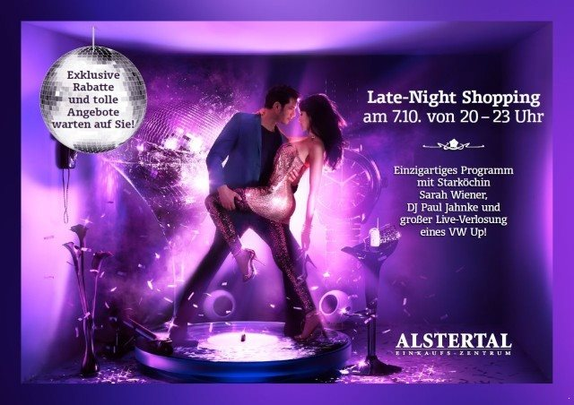 Late-Night-Shopping im Altstertal Einkaufszentrum Hamburg