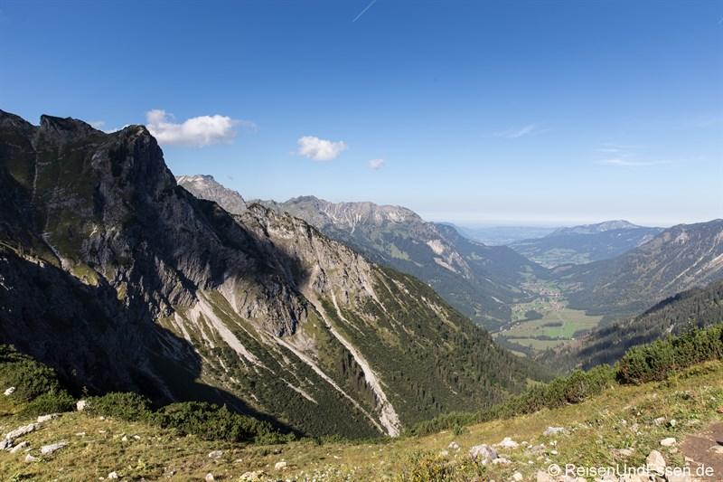 Blick ins Tal nach Hinterstein