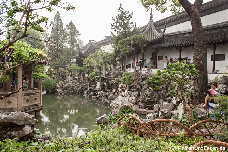 Blick in den Lion Grove Garden in Suzhou