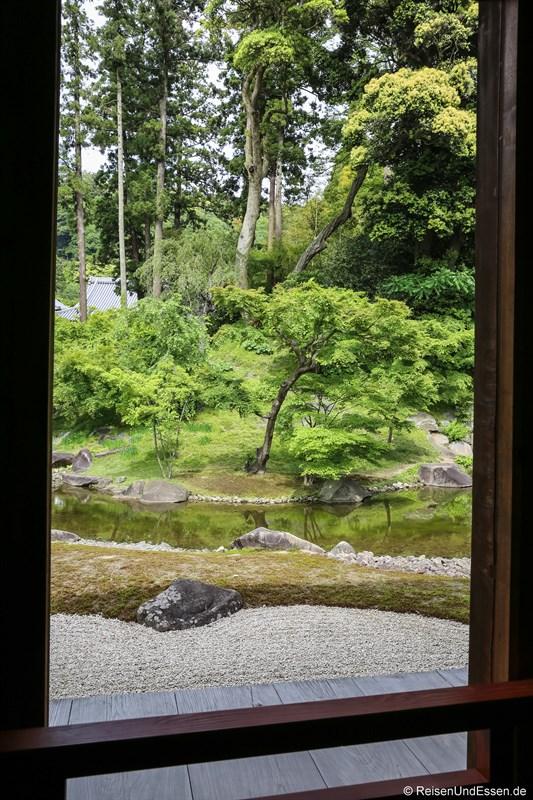 Blick in den japanischen Garten