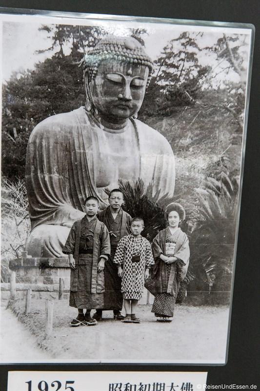 Historisches Foto vom Großen Buddha