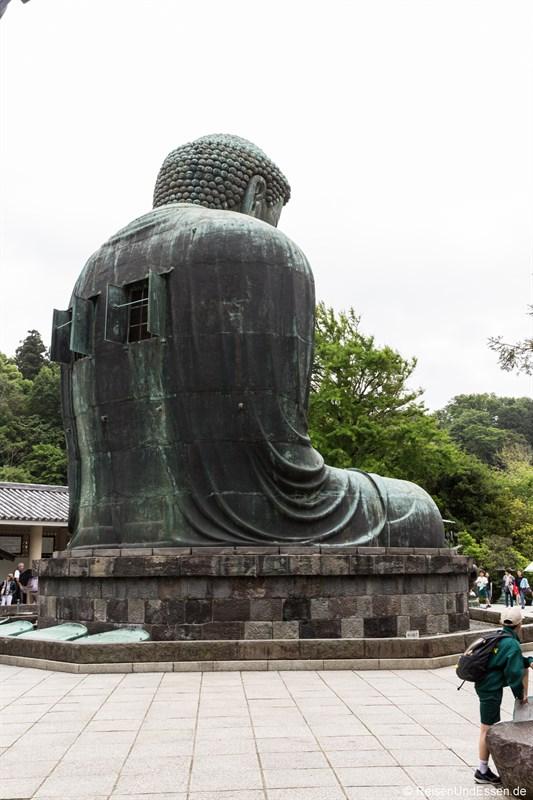 Rückseite vom Großen Buddha von Kamakura
