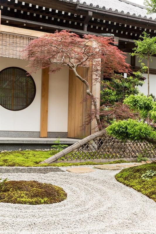 Japanischer Garten im Tempel Hase-dera