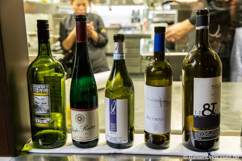 Weine zum Diner im Restaurant La Boheme in München