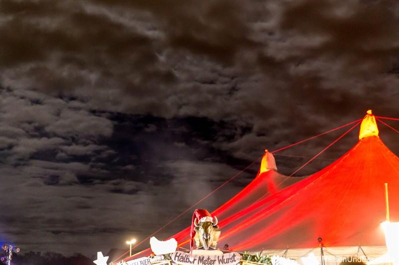 Der Himmel über dem Tollwood Winterfestival