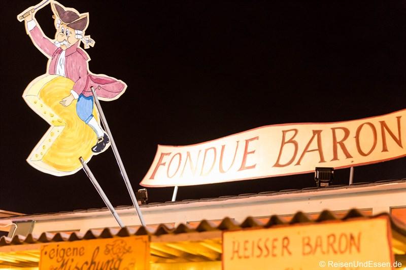 Fondue-Baron auf dem Tollwood Winterfestival