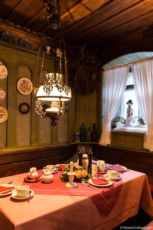 Frühstücksraum im Hotel Altfränkische Weinstube