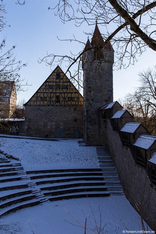 Amphitheater beim Rundgang in Rothenburg ob der Tauber