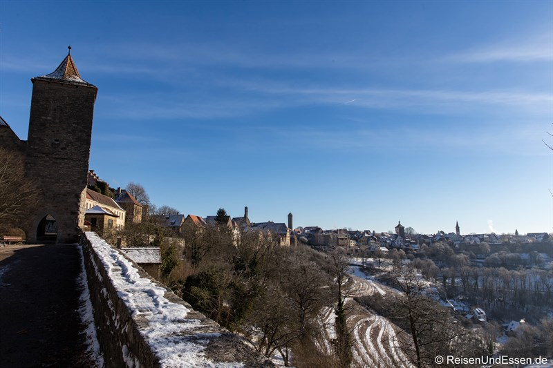 Blick vom Burggarten auf Rothenburg ob der Tauber