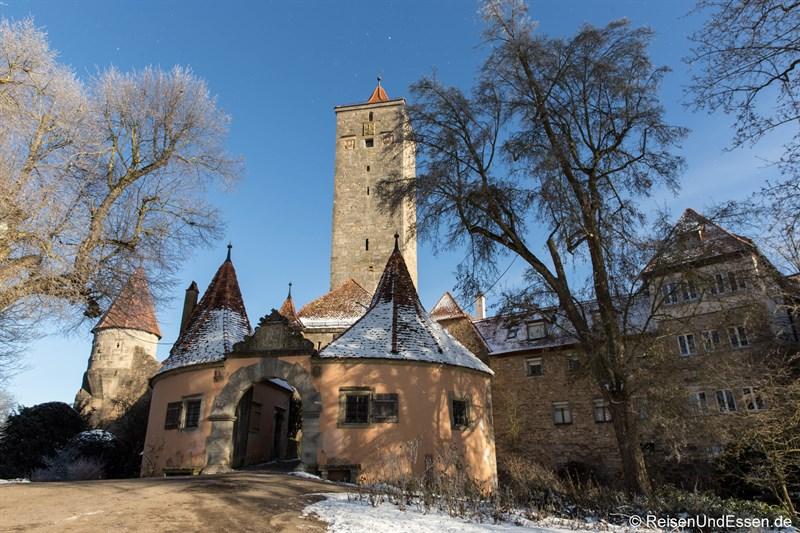 Burgtor beim Rundgang durch Rothenburg ob der Tauber