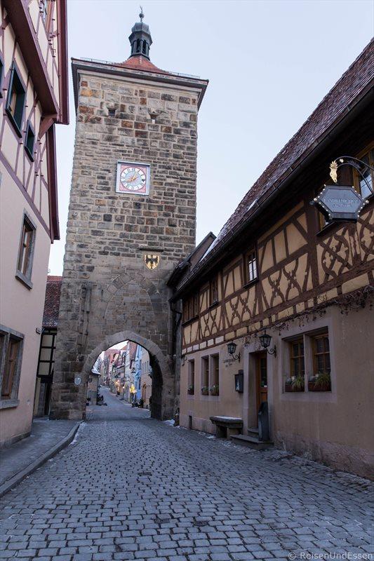 Plönlein aus südlicher Richtung in Rothenburg