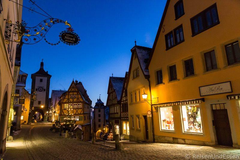 Plönlein in Rothenburg bei zur blauen Stunde