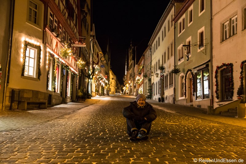 Ende des Rundgangs in Rothenburg ob der Tauber