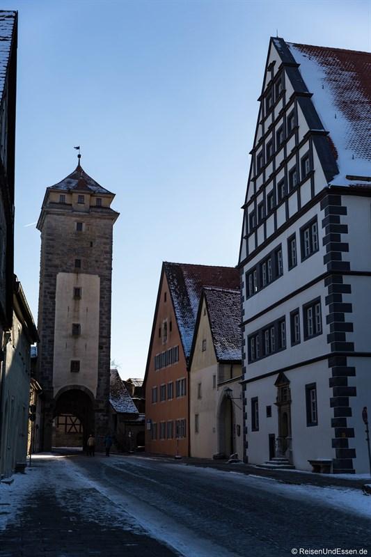 Spitaltor in Rothenburg ob der Tauber von der Altstadt