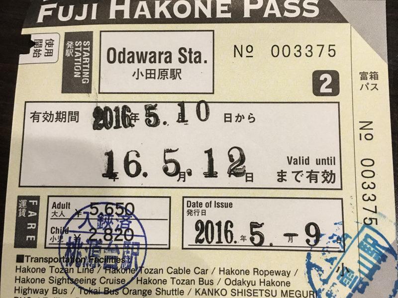 Fuji Hakone Pass