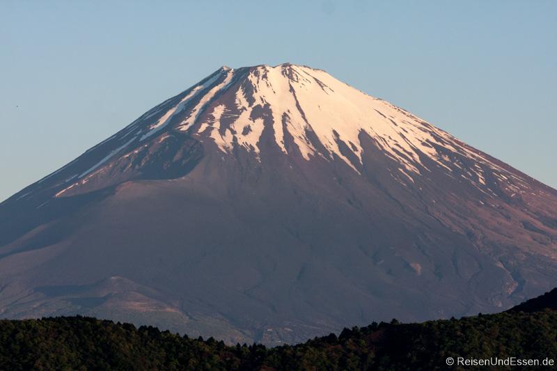 Blick auf den Krater vom Vulkan Fuji