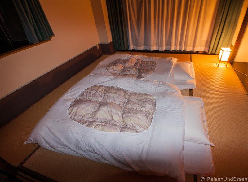 Tatami für die Nacht im japanischen Zimmer