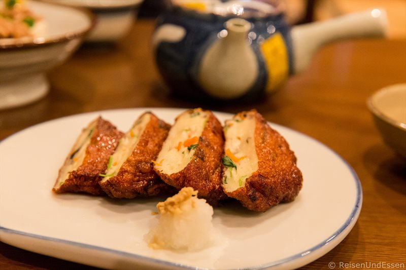Vegetarische Speise im japanischen Restaurant in Odawara