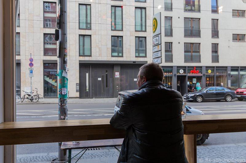 Aussicht im Polnischen Deli Tak Tak in Berlin Mitte