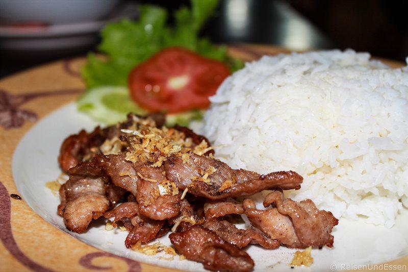 Fried Chicken mit Reis