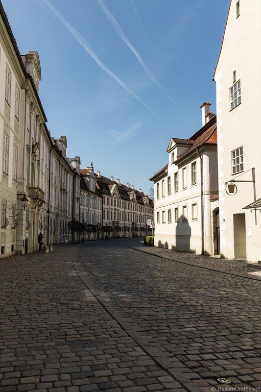 Strasse Residenzplatz in Eichstätt