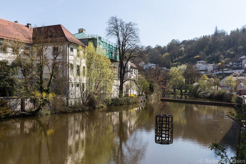 Mittelalterliches Folterinstrument bei der Spitalbrücke in Eichstätt