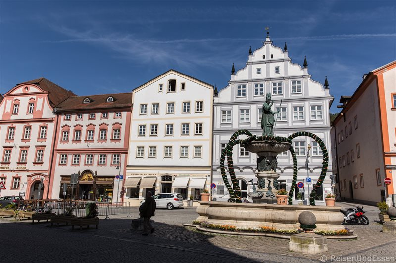 Barocke Gebäude am Marktplatz in Eichstätt