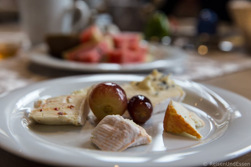 Käse beim Frühstück im Hotel Dirsch