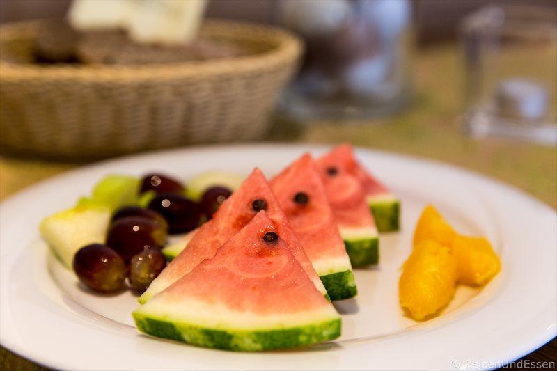 Frisches Obst beim Frühstück am Wohlfühlwochenende im Hotel Dirsch