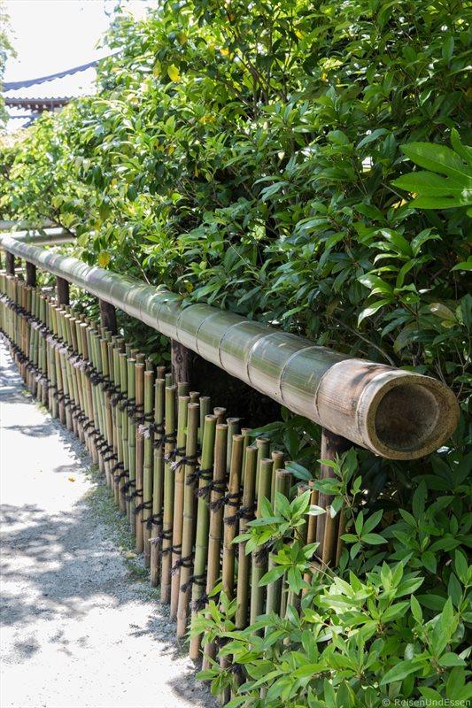 Zaun mit Bambus im Tempel Tenryu-ji