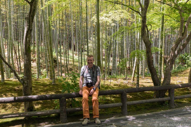Unterwegs im Tempel Tenryu-ji in Kyoto