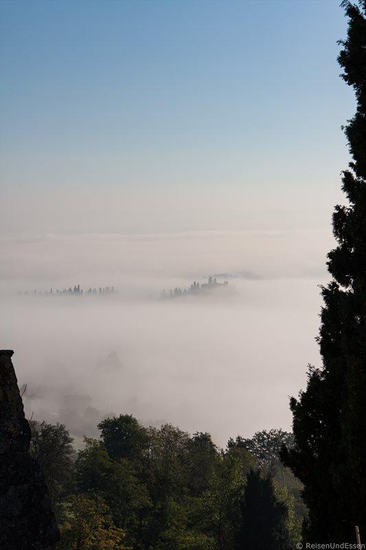San Gimignano im Nebel