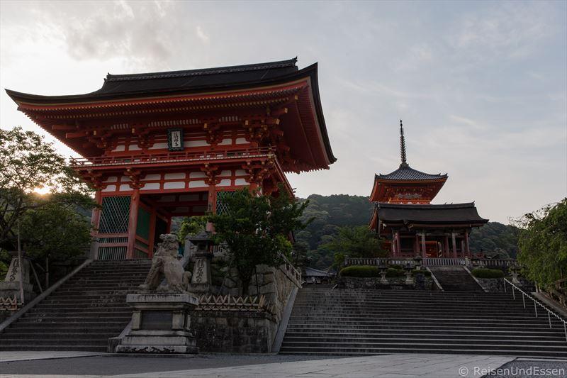 Blick auf Kiyomizu-dera bei Tour durch Higashiyama in Kyoto