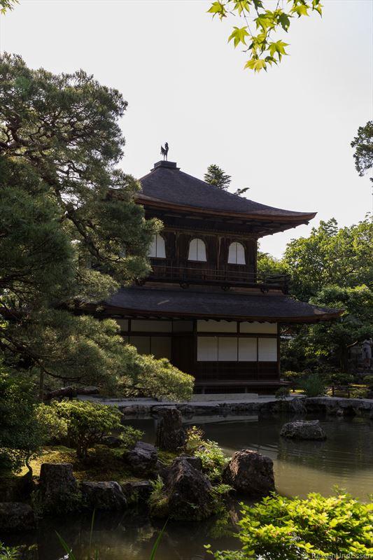 Ginkaku-ji oder Tempel des Silbernen Pavillons in Kyoto