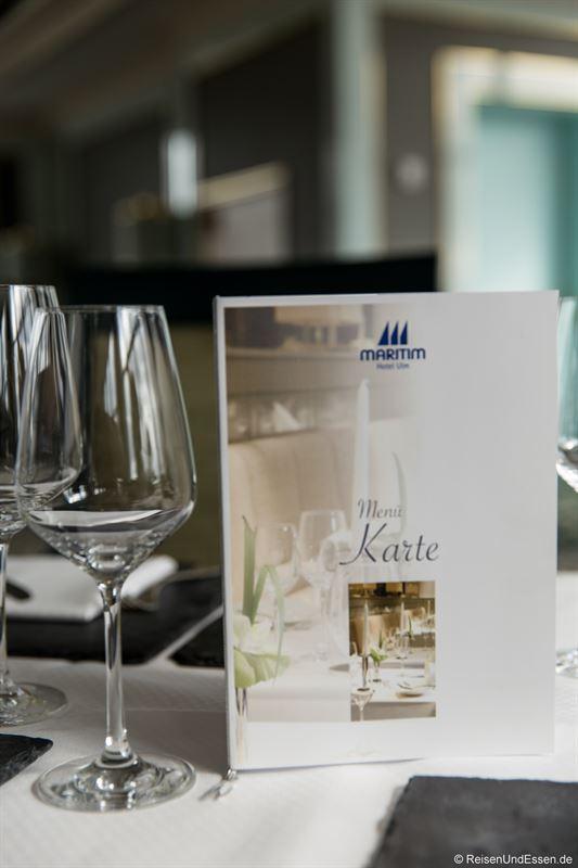 Abendessen im 16. Stock im Maritim Hotel Ulm