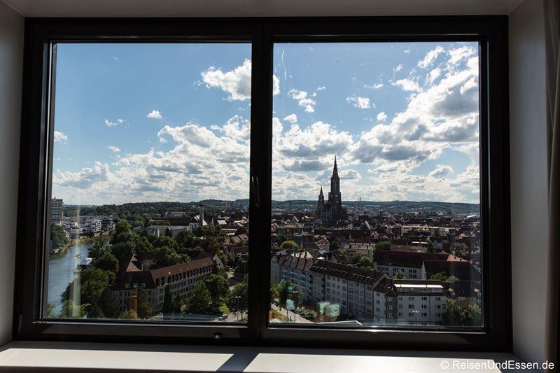 Blick aus dem Superior Zimmer im Maritim Hotel Ulm