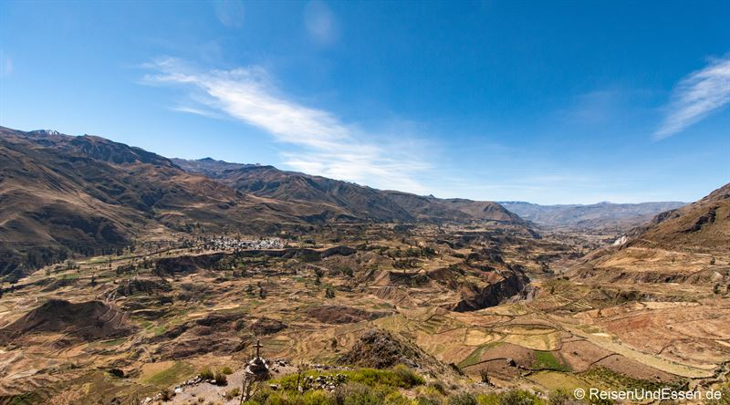 Panorama des Colca Canyon Richtung Chivay