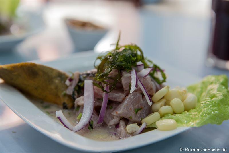Ceviche in einem Restaurant in Lima - Sushi der Anden