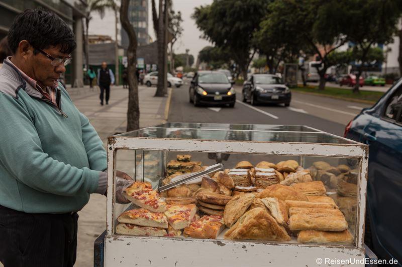 Straßenhändler in Lima