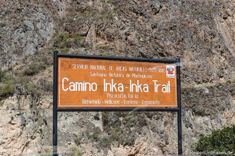 Start des Inka Trail bei Kilometer 82